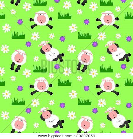 Seamless Sheep Background
