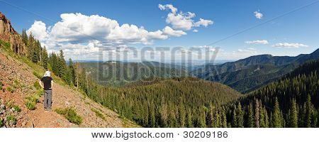 Hiker In San Juan National Forest, Colorado