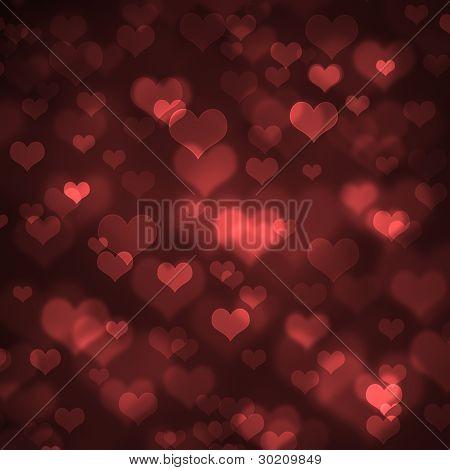Heart-shaped Bokeh Background