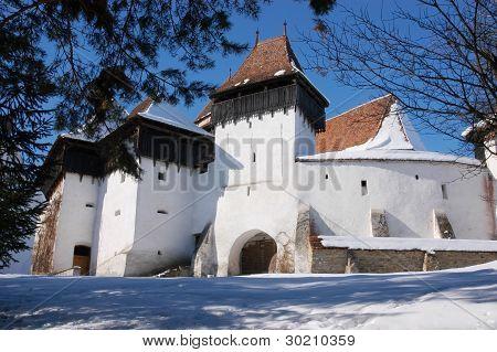 Fortified church of Viscri (Weisskirch, Szaszfeheregyhaza) in Transylvania, Romania. UNESCO heritage