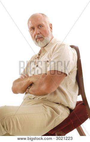 Intense Older Man