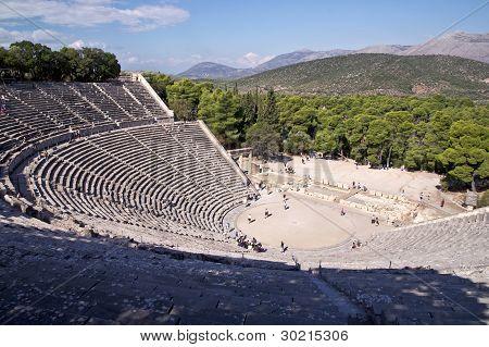 Teatro en el Santuario de Asklepios en Epidauro, Grecia