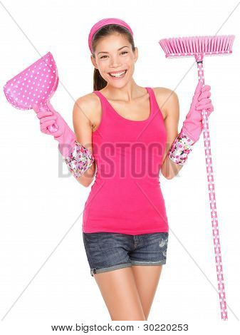 Cleaning Woman Beautiful