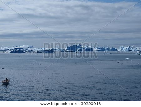 Iceberg, Greenland West Coast In Summer