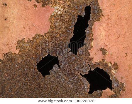 Macro Texture - Metal - Rusty Metal And Peeling Paint