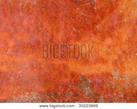 Makro Textur Metall rostig peeling paint