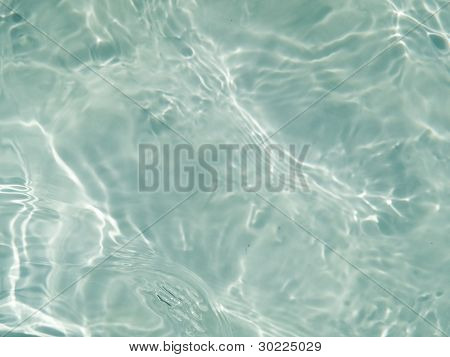 Rippling pool water