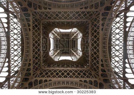 Eiffel Tower Viewed From Underneath
