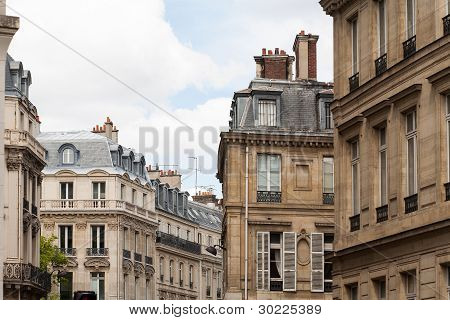 Parisian Cityscape Of Classic Architure