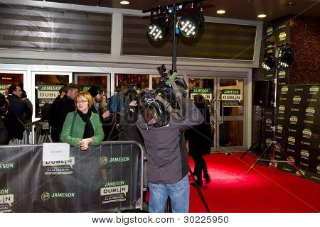 DUBLIN, IRELAND - FEBRUARY 20: Crowd waiting for Al Pacino at premiere of his Wilde Salome movie at Jameson Dublin International Film Festival in Savoy Cinema on February 20, 2012 Dublin, Ireland