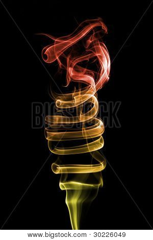 Abstract Smoke Fire Background