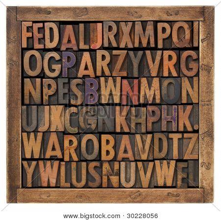 random alphabet letters