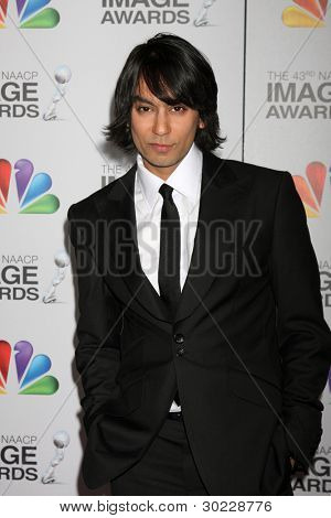 LOS ANGELES - FEB 17:  Vik Sahay arrives at the 43rd NAACP Image Awards at the Shrine Auditorium on February 17, 2012 in Los Angeles, CA