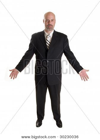 Businessman Gesturing