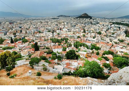 Athens seen from Acropolis, Greece
