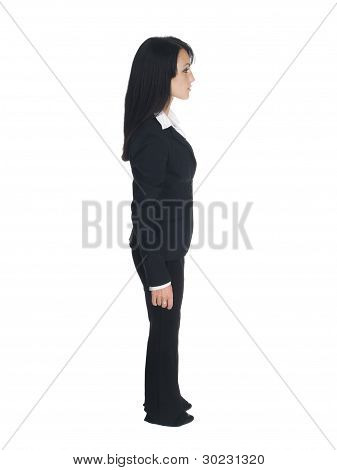 Businesswoman facing right