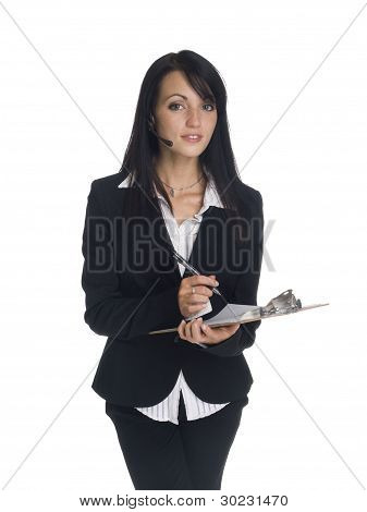 Businesswoman - Phone Call Clipboard