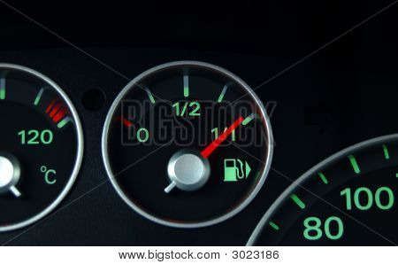 Dashboard And Fuel Indicator