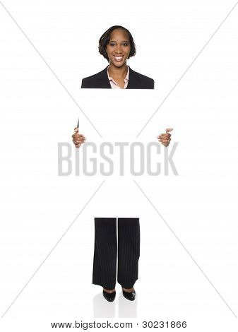 Businesswoman - Blank Sign