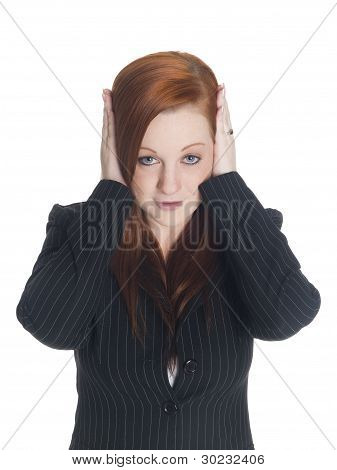 Businesswoman - Hear No Evil
