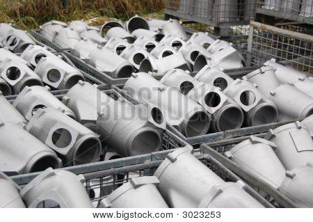 Warehouse. Pump Blocks Of Motor