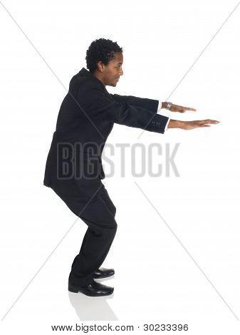 Businessman - Jump Balance