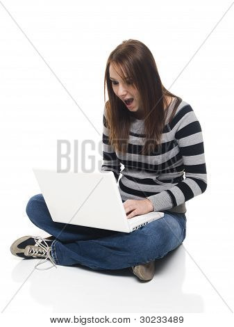 Casual Woman - Laptop