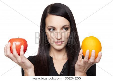Produce - Apples And Oranges Woman
