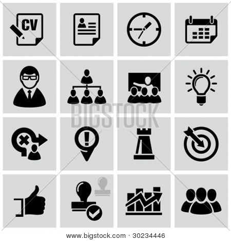 Business strategy icons set.