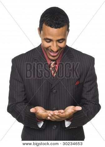 Businessman - Happily Holding