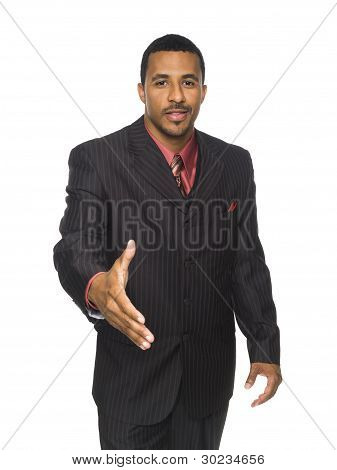 Businessman - Camera Handshake