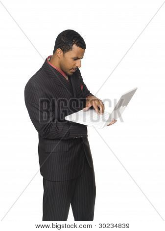 Businessman - Carrying Laptop