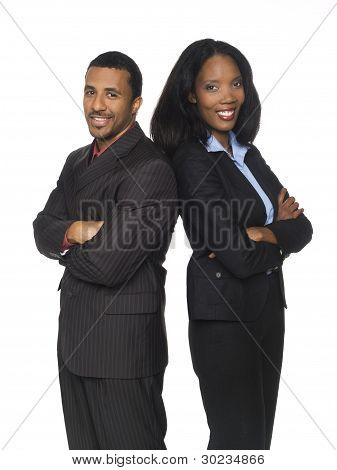 Businesspeople - Happy Back To Back
