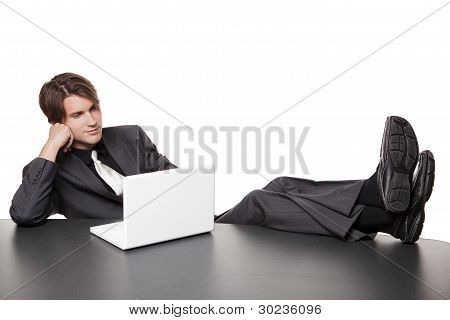 Businessman - Relaxed Laptop