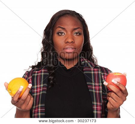 Apples To Oranges - African American Businesswoman