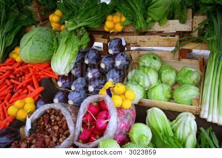 Vegetables At Bazaar