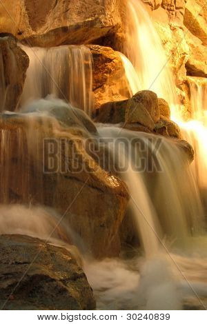 Beautiful cascading waterfall