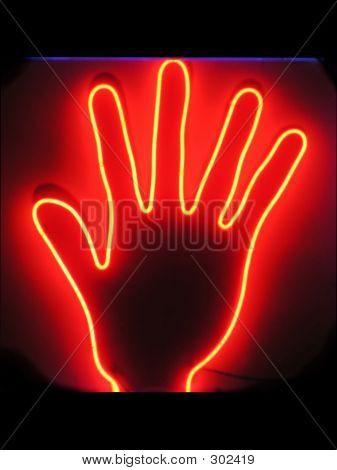 Hand Neon Sign