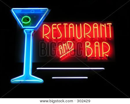 Restaurant & Bar Neon Sign