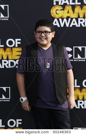 SANTA MONICA, CA - FEB 18: Rico Rodriguez at the 2012 Cartoon Network Hall of Game Awards at Barker Hangar on February 18, 2012 in Santa Monica, California