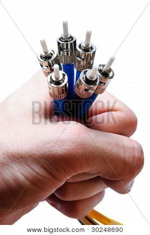 optical connectors in the hand