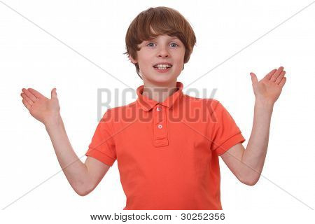 Gesturing Boy