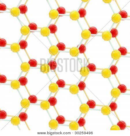 Red spheres as molecular or social network