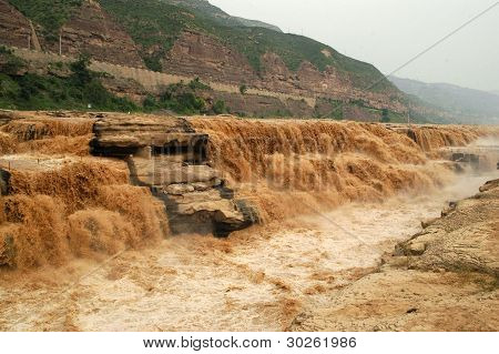 China Hukou Waterfall of the Yellow River