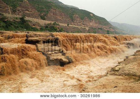 China Hukou Waterfall of the Yellow River