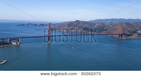The Golden Gate Bridge Aerial View