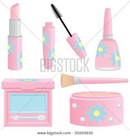 Pretty Pink Cosmetics Collection