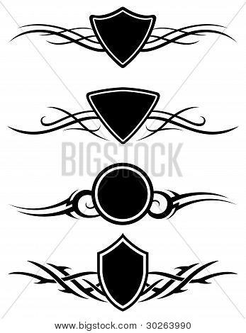 Vector Shield Ornaments