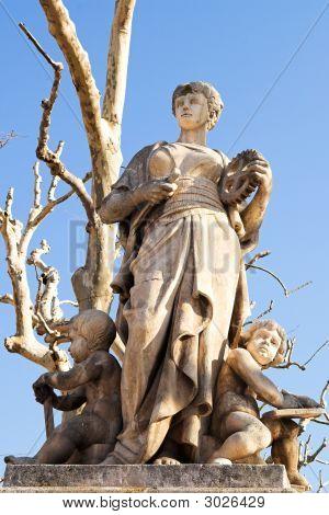 Statues In Aix-En-Provence