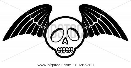 Winged Cartoon Skull Two
